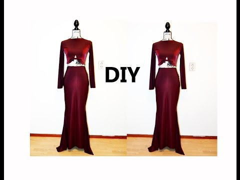 diy-mermaid-two-piece-dress-(-easy-sewing)