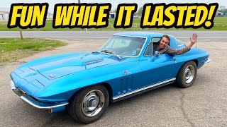 Driving My Cheap 427 Corvette for the First Time (Of course it broke down)