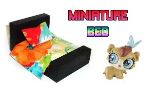 DIY LPS Bed - How to Make DIY LPS Furniture Crafts & Doll Crafts