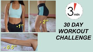 I DID A 3 MIN WORKOUT FOR 30 DAYS w/ *shocking results*   Gabriella Whited   Before & After