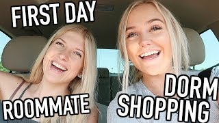 VLOG: Dorm Shopping + First Day of College