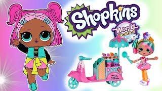 Shopkins Word Vacation Peppa Mint & Lody dla laleczek LOL Surprise  bajka po polsku