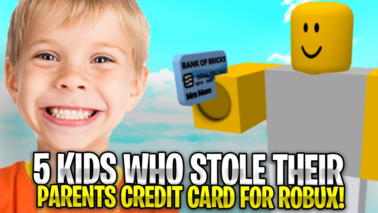 Kid Buys Dominus With Mom S Credit Card Roblox Youtube 5 Kids Who Stole Their Parents Credit Card For Robux Crazy Reactions Youtube