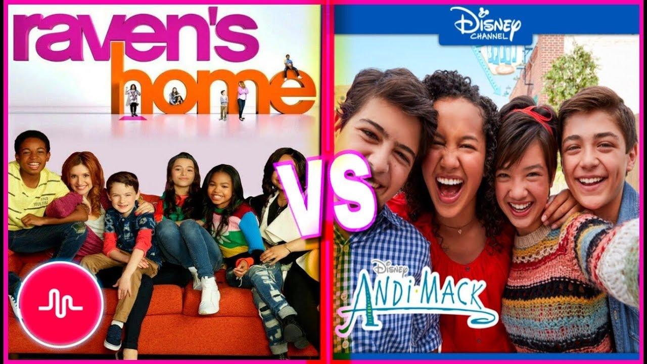 Ravens Home VS Andi Mack Musical.ly | Disney Channel Stars New Musically 2018