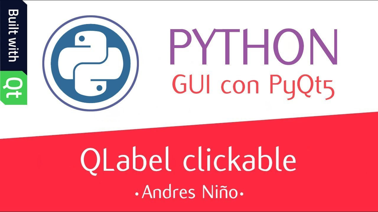QLabel clickable con PyQt