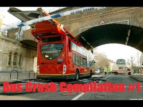 Bus Crash Compilation #1 February 2014