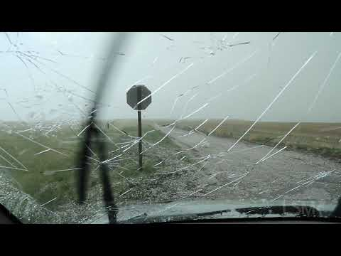 05-13-2021 Brewster, KS - Hail Covers I-70, Vehicles Parked Under Overpass