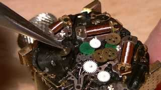 How to restore a Seiko 7T36 - reassembling the movement