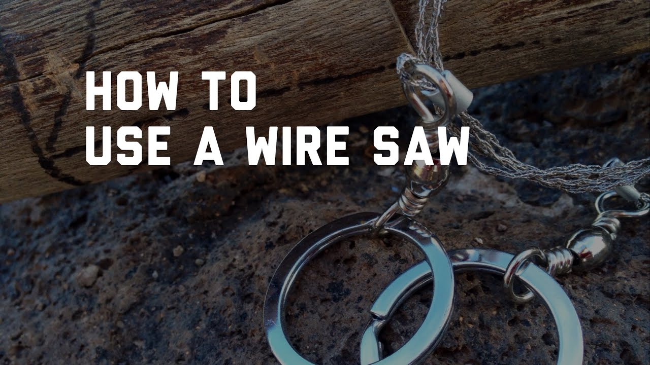 How to use a Wire Saw - YouTube