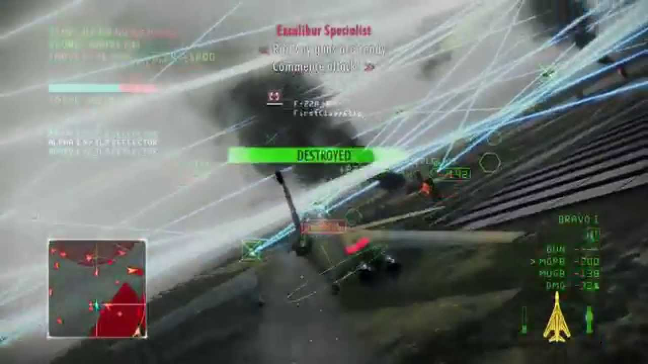 Ace Combat Infinity Excalibur I When 4 Man Becomes 2 Man Youtube