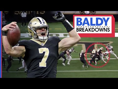 Analyzing Taysom Hill's Debut & Similarities to Drew Brees | Baldy Breakdowns