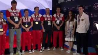 видео В Доме Болельщиков РФ состоялась церемония чествования Команды по фехтованию