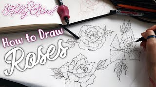 How to Draw Roses without Reference. Inktober