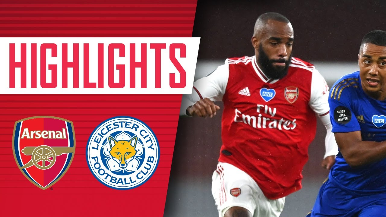 Lacazette 4/10 as Arsenal lose to late Leicester goal by Vardy