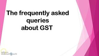 GST in Tally ERP 9 (Important Query)