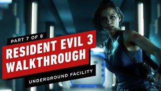 Resident Evil 3 Walkthrough - Underground Facility (Part 7)