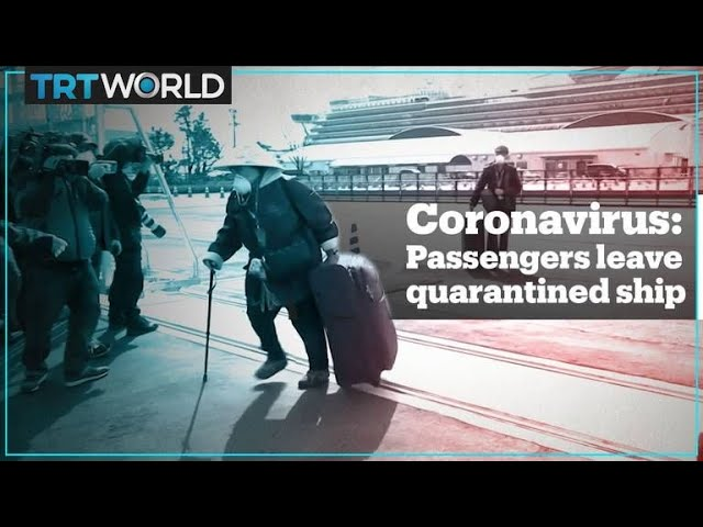 Passengers disembark quarantined cruise ship in Japan