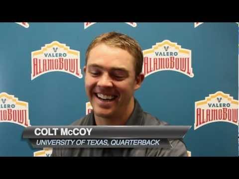 Colt McCoy Reacts to Wedding Shot - Alamo Bowl