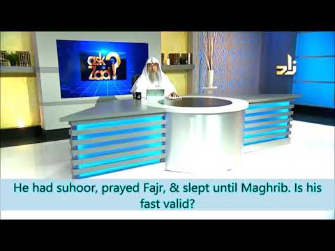 Is the fast valid if you prayed Fajr but slept the whole day? - Sheikh Assim Al Hakeem