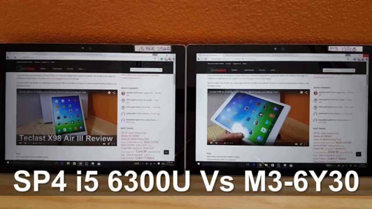 surface pro 4 i5 vs surface pro 4 m3 comparison youtube. Black Bedroom Furniture Sets. Home Design Ideas