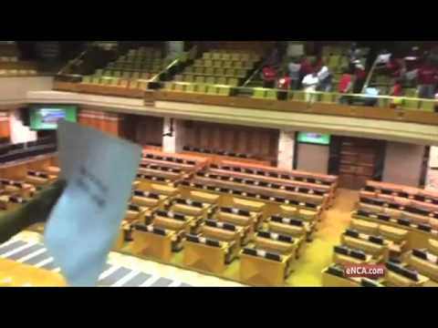 Nehawu members continue their strike in Parliament
