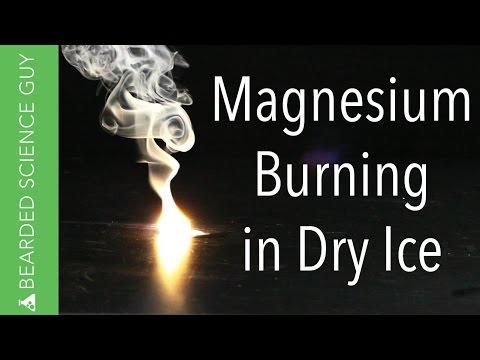 Magnesium In Dry Ice (Chemistry)