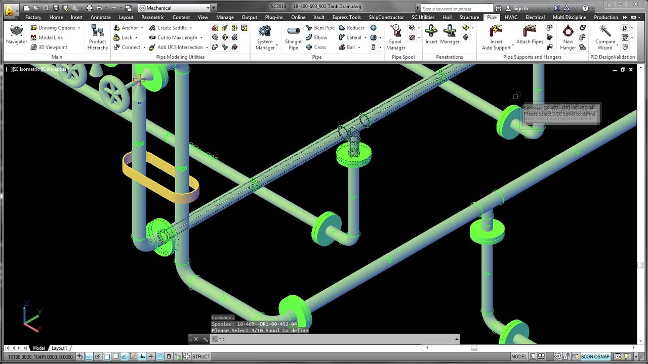 Ssi Shipconstructor Pipe Overview Youtube Piping Isometric Diagram