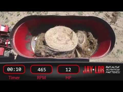 Jaylor 5275 TMR Mixer Bale Processing Demo