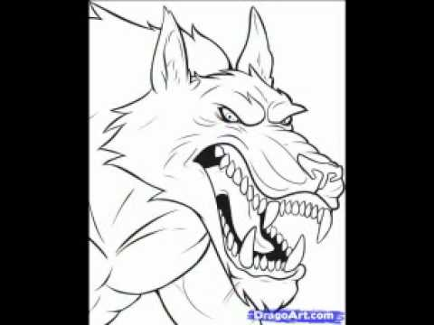Como Dibujar Un Hombre Lobo Youtube