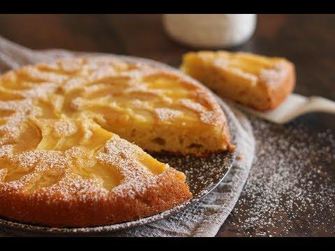 renversé-au-yaourt-et-pommes-,-le-gâteau-qu'on-ne-peut-pas-rater-!-/-كيك-الزبادي-المقلوب-بالتفاح