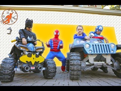 Best of Little Superheroes from New Sky Kids w Spiderman, Batman, Supergirl, Captain America & Flash