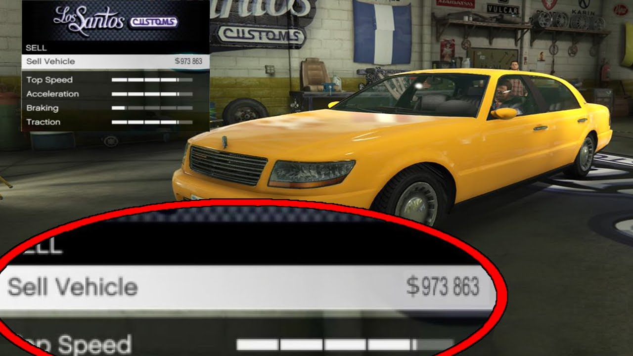 How to sell cars over 50000 in gta online 1.09