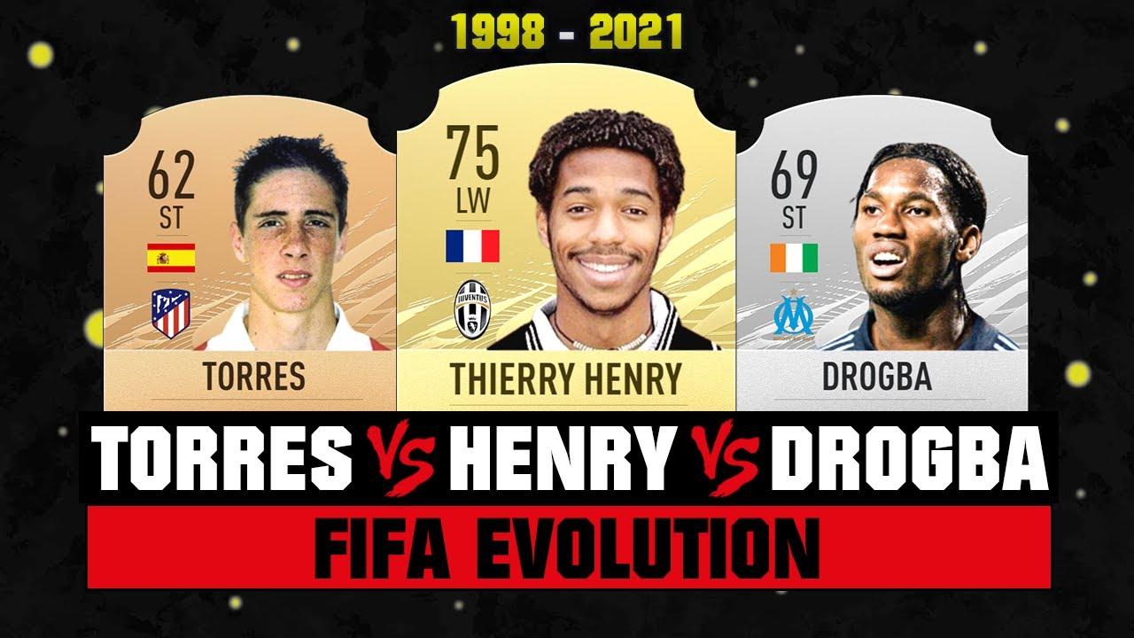Henry VS Drogba VS Torres FIFA EVOLUTION! 😱🔥 FIFA 98 - FIFA 21
