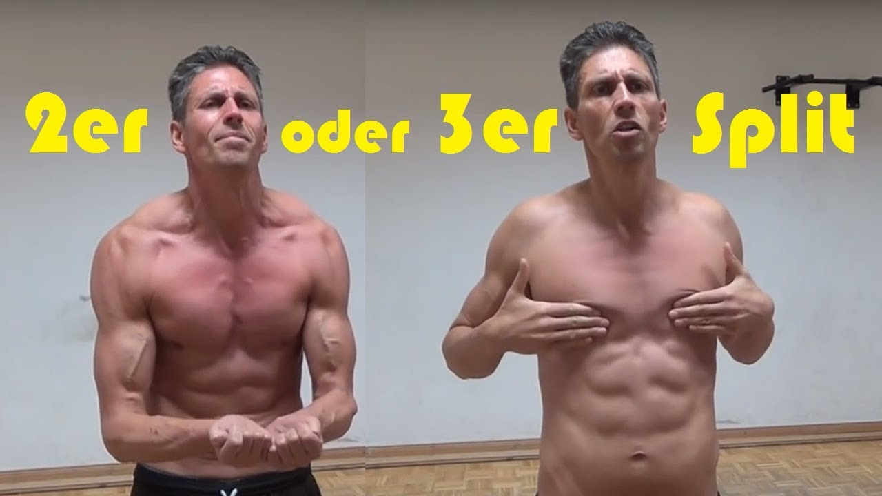 2er Oder 3er Split Trainingsplan Optimaler Muskelaufbau Durch Split Plan