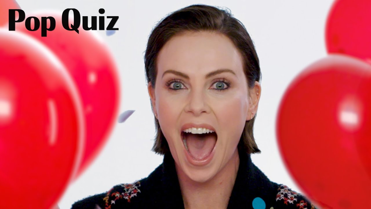 Charlize Theron Plays Pop Quiz | Marie Claire