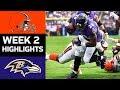 Browns vs. Ravens | NFL Week 2 Game Highlights