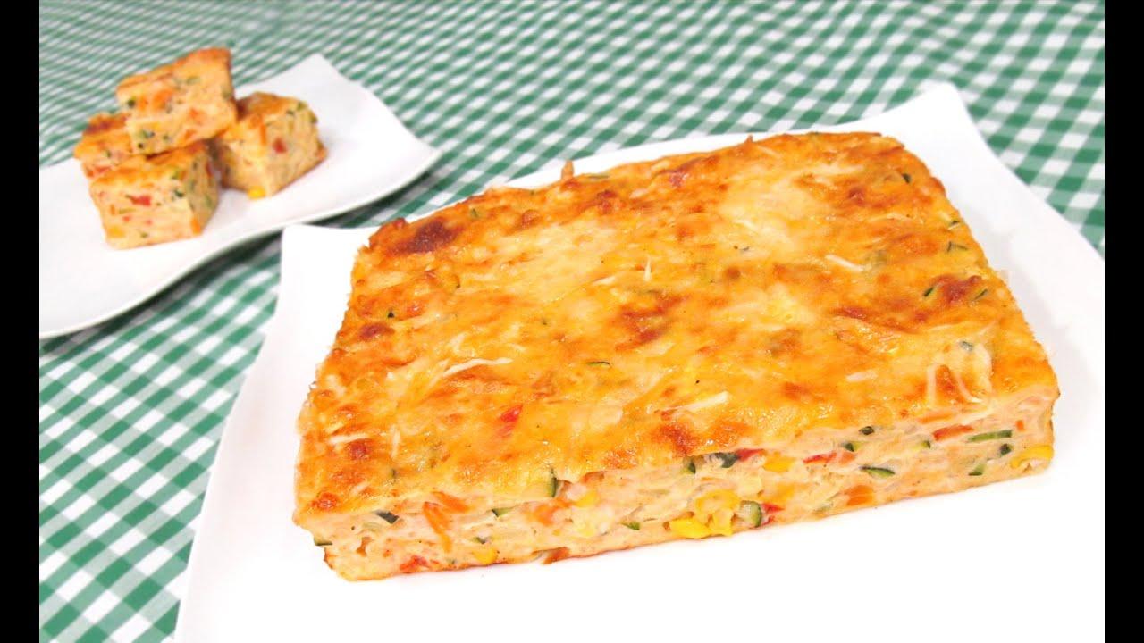 Delicioso pastel de verduras youtube - Verduras rellenas al horno ...