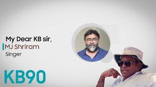 MJ Shriram about K.Balachander | KB90 | Kavithalayaa