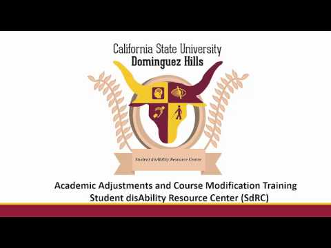 SdRC Academic Adjustments and Course Training