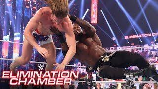Bobby Lashley cleans house in Triple Threat clash WWE Elimination Chamber (WWE Network Exclusive)