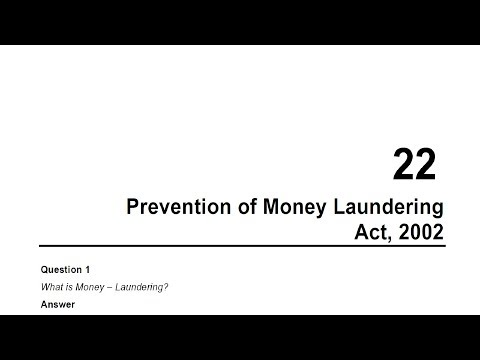 CA Final Corporate and Allied Laws - Prevention of Money Laundering Act, 2002
