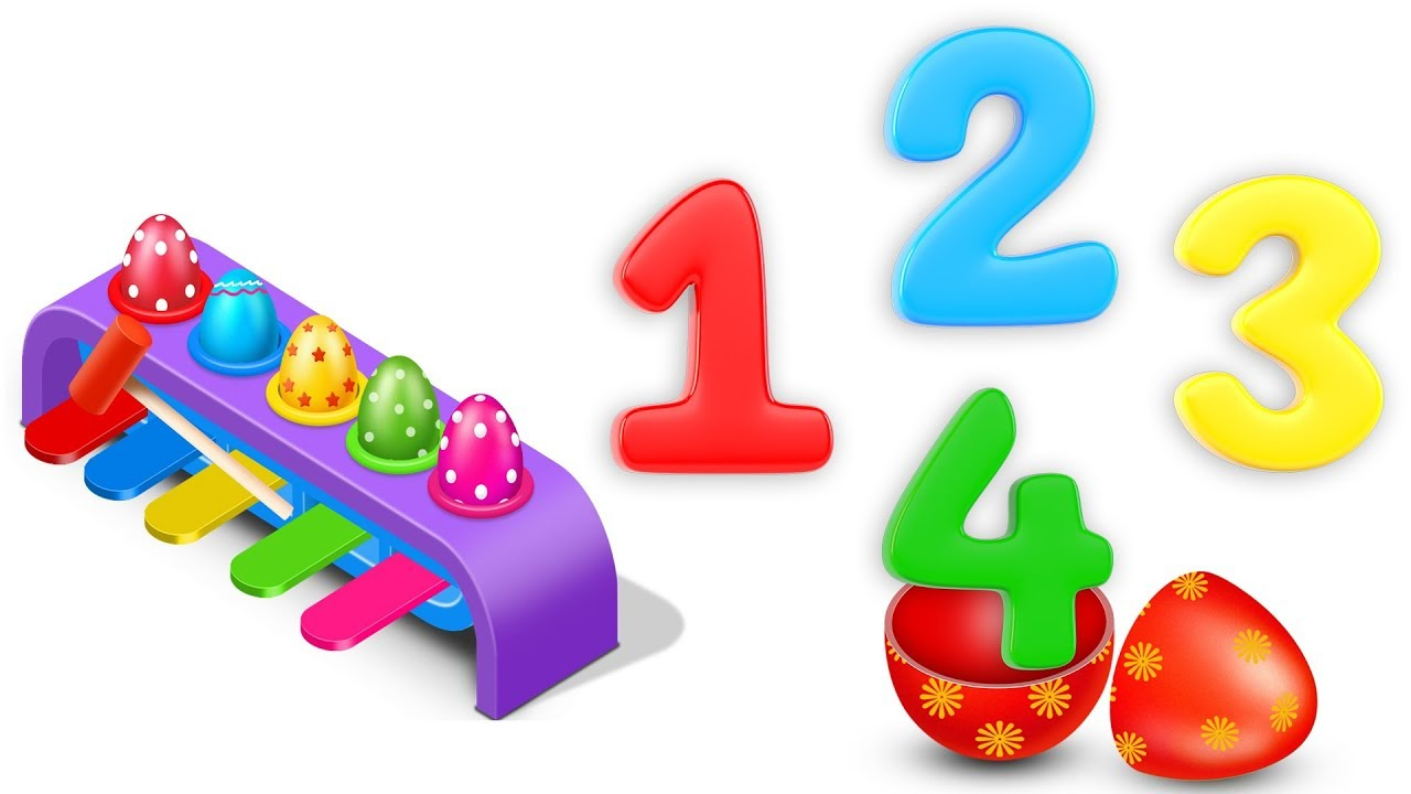 Learn Numbers With Wooden Hammer Toys And Surprise Eggs