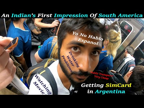 My First Impression Of Traveling In South America Buenos Aires || Indian IN Argentina