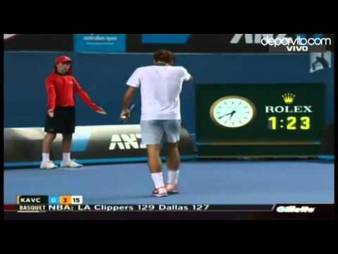 Roger Federer - Blaz Kavcic 6-2, 6-1 y 7-6 (7-4)