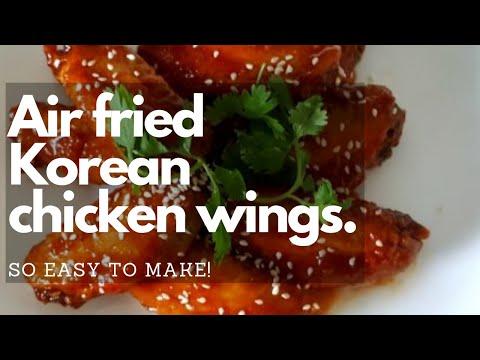 Spicy Korean Fried Chicken Wings Easy Air Fryer Recipe