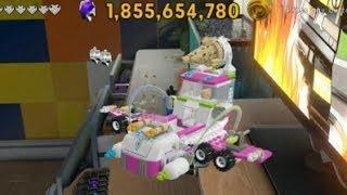 Lego Movie Videogame - Golden Instruction Build #14 - Flying Ice Cream Truck