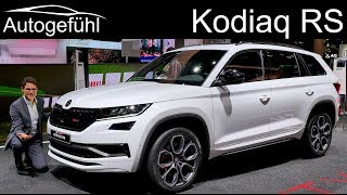 Skoda Kodiaq RS - the sportiest and most expensive Skoda SUV vRS REVIEW - Autogefühl