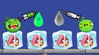 Unfreeze Angry Birds - RESCUE THE FROZEN BIRDS BY DROPPING WATER!