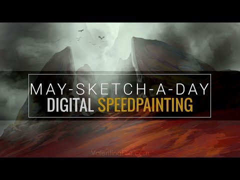 Digital Painting   Fantasy Landscape Concept Art   Speed Painting Time Lapse [May-Sketch-A-Day 28]