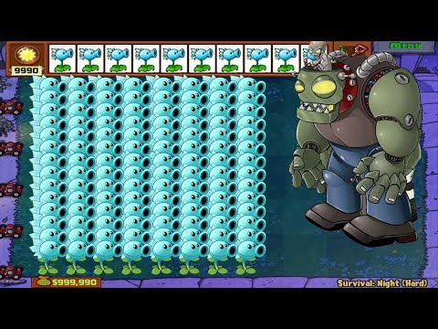 1 Dr. Zomboss Vs 999 Snow Pea Hack Plants Vs Zombies